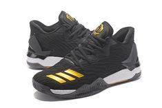 """online store 484e8 64c9a Adidas D Rose 7 Low""""Black Gold """"Sneakers for Online Sale 01 01 Gold  Sneakers,"""