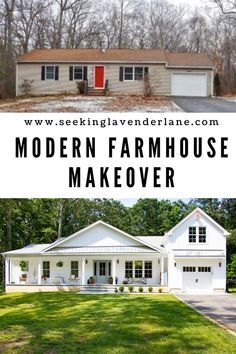 From Foreclosure dump, to white modern farmhouse. Before video and after photos interior and exterior.