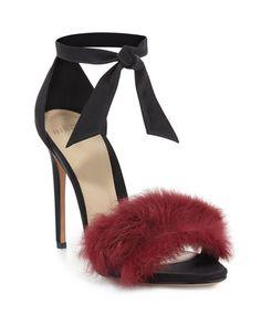 ALEXANDRE BIRMAN Clarita Satin 100Mm Sandal, Black/Cerise. #alexandrebirman #shoes #sandals
