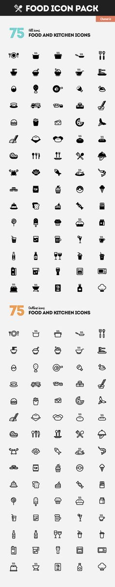 Food and Kitchen icons pack by Chanut-is Product on @creativemarket