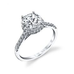 ENGAGEMENT RINGS :: 14K W RING 32RD 0.37CT -