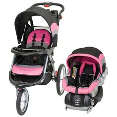 pink and black stroller and car seat | ... Trend Expedition ELX Travel System Stroller – Pink Nikki Reviews