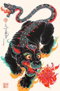 Black Panther & Snake Tail - KENTA TORII