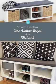 pad for Kallax shelf - With the DRUFF pad, you can turn your Ikea Kallax shelf into a comfortable seat in no time at all. -Seat pad for Kallax shelf - With the DRUFF pad, you can turn your Ikea Kallax shelf into a comfortable seat in no time at all. Ikea Kallax Hack, Ikea Kallax Shelf, Ikea Kallax Regal, Ikea Hack Nightstand, Diy Ikea Hacks, New Swedish Design, Diy Home Decor, Room Decor, Home Decoration