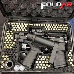 Folding with a Folding Barrel and Stock from FoldAR Coming Soon Assault Weapon, Assault Rifle, Weapons Guns, Guns And Ammo, Police Tactical Gear, Tactical Guns, Ar Pistol Build, Reloading Room, Battle Rifle