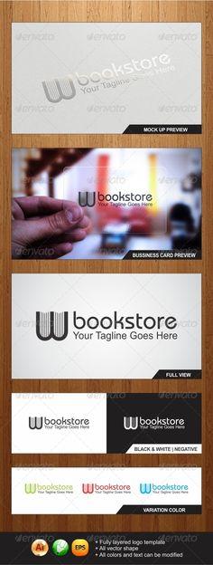 W Bookstore Logo Template - Graphicriver