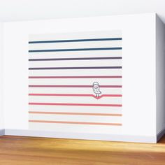 #008 OWLY coloured perspectives 2 Wall Mural