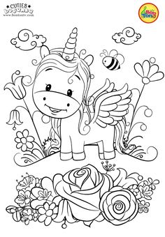 Cuties Coloring Pages for Kids - Free Preschool Printables - Slatkice Bojanke - Cute Animal Coloring Books by BonTon TV Unicorn Coloring Pages, Cute Coloring Pages, Disney Coloring Pages, Animal Coloring Pages, Coloring Pages To Print, Free Coloring, Adult Coloring Pages, Coloring Pages For Kids, Coloring Books