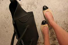 Chanel flats and Celine bag