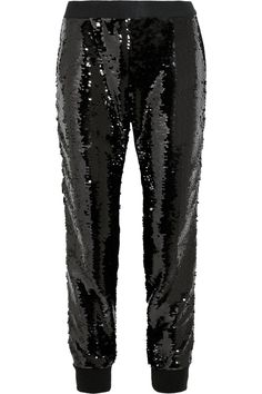 Giambattista Valli | Sequin-embellished silk-satin pants