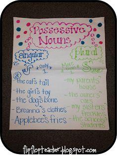 Possesive Noun Anchor Chart