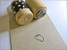 cute baby foot rubber stamp