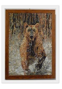 bear mosaic by Francoise Moulet