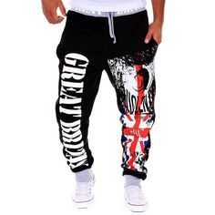 23.53$  Watch now - http://di4xr.justgood.pw/go.php?t=199204605 - Drawstring Contrast Trim Letter Printed Jogger Pants