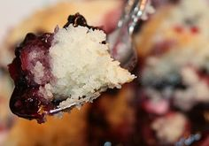Blackberry Dumpling Cobbler - A tender, fluffy sweet buttermilk cobbler dough, dropped like dumplings into freshly stewed blackberries and topped with homemade whipped cream.