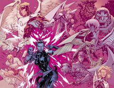 PSYLOCKE // like a butterfly: Psylocke & Archangel Re-Connect In Uncanny X-Men #6 First Look