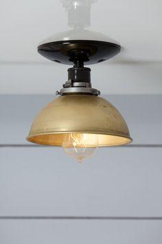 Brass Metal Shade Light - Semi Flush Mount  $109