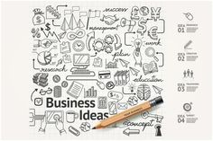 Business Idea Doodles Icons Set. by Graphixmania on Creative Market