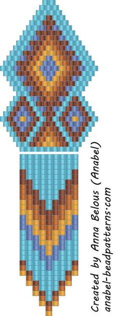 Схема этно-сережек из бисера