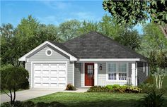 This attractive 3 bedroom 2 bath cottage home plan creates a very warm and inviting place for you and your family to call home. Only 29 Cottage Style House Plans, Cottage Style Homes, Cottage House Plans, Bedroom House Plans, Country House Plans, Cottage Design, House Design, Small Cottage Homes, Rambler House Plans