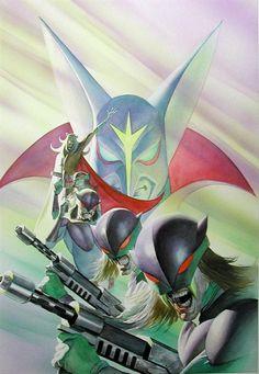 """Battle of the Planets - Galactor."" Artist Alex Ross. Comic Book Artists, Comic Books Art, Comic Art, Alex Ross, Anubis, Manga Anime, Anime Art, Battle Of The Planets, Ninja"