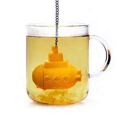 A base di erbe Submarine Silicone Tea Infusore Fogli staccabili Setaccio Filtro Diffusore Spice Bere il Tè Colino