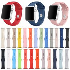 Rubber Watch Band for iWatch Silicone Wrist Strap for Apple Watch Series 2 Watchband Shipped w Tracking Number men Apple Watch Band, Apple Watch Faces, Apple Watch Series 2, Watch Bands, Apple Band, Apple Watch Iphone, Design Apple Watch, Iphone 7, Iphone Cases