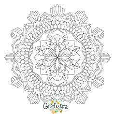 Imprimer une Mandala à colorier gratuits anti-stress №24