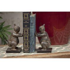 Stone Bronze Sumo Bookend, Set Of Two Dessau Home Bookends Bookends Home Decor