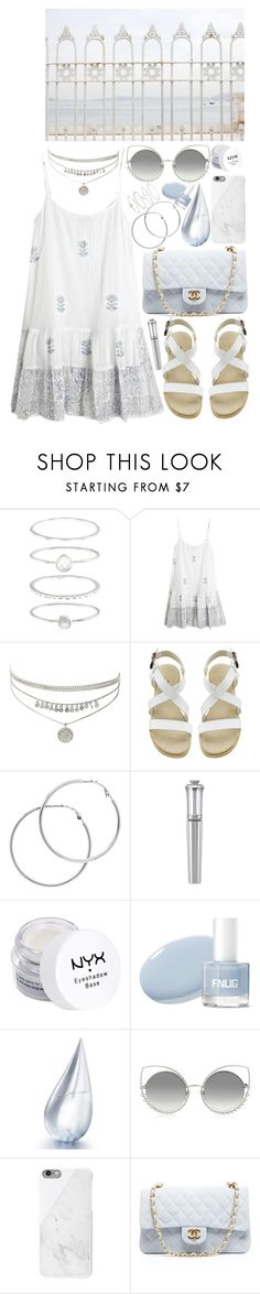 """""""you're too true"""" by loveselena22 ❤ liked on Polyvore featuring Accessorize, Juliet Dunn, Melissa Odabash, Morgan Lane, NYX, La Prairie, Marc Jacobs, Native Union and Chanel"""