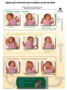 Allaitement Bébé enfant signes téter