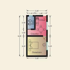 Studio Apartment Floor Plans, Studio Floor Plans, Apartment Plans, Small Apartment Layout, Studio Apartment Layout, Little House Plans, Small House Floor Plans, Smart Home Design, Small House Design