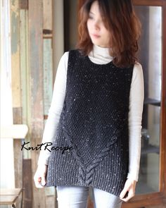 Vest Pattern, Knit Fashion, Tank Tops, Knitting, My Style, Crochet, Women, Vest Coat, Women's