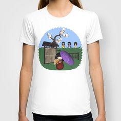Kokeshi Sakura Doll Scene T-shirt by apgme - $22.00