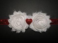 Valentines Red Baby Headbands Newborn Headband by BabyliciousDivas, $7.25