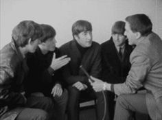 """bodacious-beatle-blog: """"lemchast4: """" George started it!!! """" i love how the interviewer just backs away…. """""""