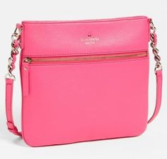 13fdfe74c6623  sale Kate Spade Cobble Hill Ellen Love Pink Leather Crossbody Shoulder Bag  Purse Crossbody Shoulder