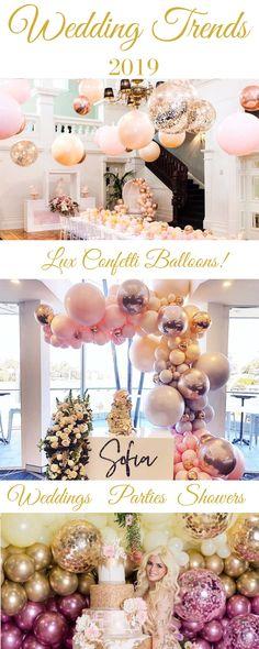 20 Piece Blue Confetti Balloons by Adriel Supply Pastel Weddings, Gold Weddings, Disney Weddings, Real Weddings, Wedding Backdrops, Wedding Receptions, Wedding Vendors, Wedding Trends, Wedding Designs