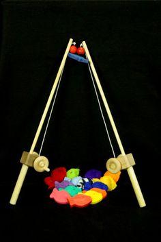 Fishing Pole Combo by myhandmadetoy on Etsy