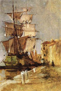 Waterside Scene - John Henry Twachtman - WikiArt.org