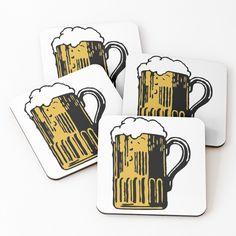 'Cold Beer' Coasters by Beer-Bones Lager Beer, Beer Brewing, Home Brewing, Artisan Beer, American Beer, Beer Coasters, Tap Room, Best Beer, Brewery