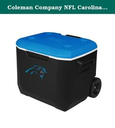 Coleman Company NFL Carolina Panthers Performance Cooler, 60 quart, Black/Blue. Take your spirit of the team with you whenever a cooler is needed. The new, stylish convenience of a Coleman 60 Quart Wheeled Cooler with you to the party-at the tailgate, BBQ or campsite. While your friends revel in the sleek new look, you'll enjoy the added improvements that better fit your lifestyle. The redesigned 60-quart cooler is tall enough to hold 2-liter bottles upright and large enough to hold up to…