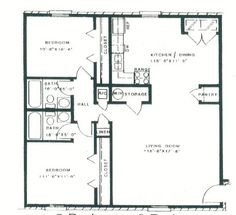 1 story 2 bedroom 2 bathroom 1 kitchen 1 dining room for 1010 family plan