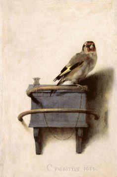 "lilacsinthedooryard: "" Carel Fabritius (Dutch, 1622-1654) The Goldfinch 1654 """