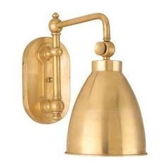 Somerset Aged Brass Swing Arm Sconce