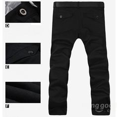 Casual Business Cotton Pants Fashion Concise Design Mens Trousers at Banggood
