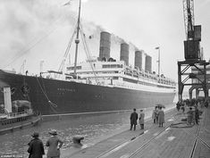 The Aquitania leaves the docks Southampton on a transatlantic voyage to New York in 1923. The ship was launched in April 1913