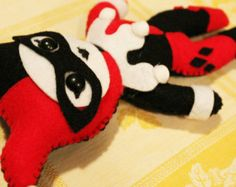 Made to Order - Harley Quinn - Batman - Villian - The Joker - Geekery - Plush