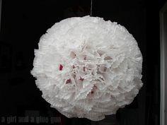 cupcake liner hanging ball