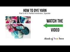 How to Dye Yarn - Speckled.   I'm going to use Kool-Aid or Easter Egg dye for this, though.
